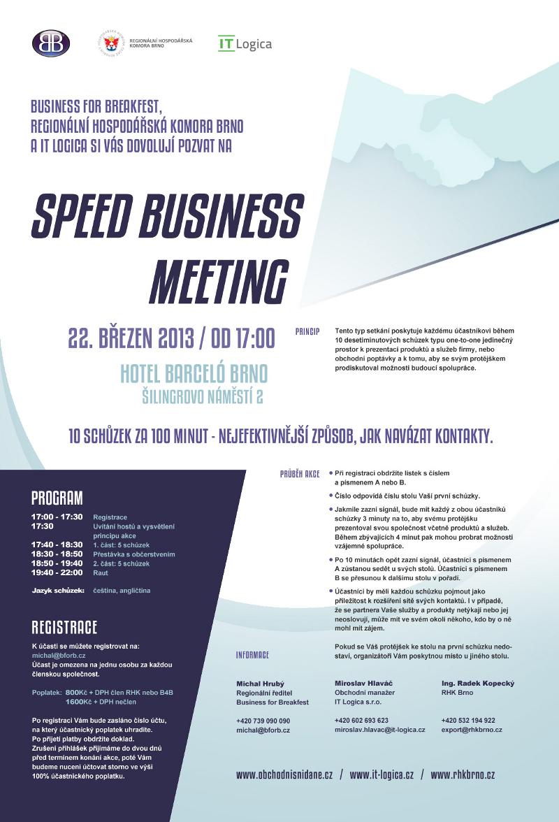 Speed Business Meeting - 22. březen 2013, Brno