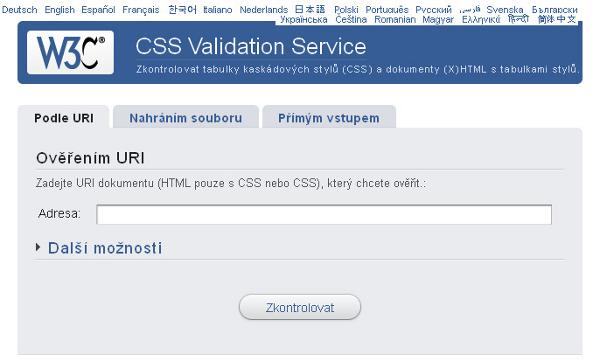 CSS validace
