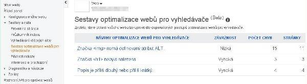 Sestavy optimalizace webů pro vyhledávače