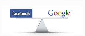 Facebook, Google+