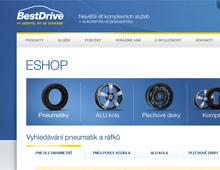 Internetový obchod s pneumatikami a disky pro síť pneuservisů BestDrive