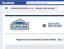 Facebook aplikace pro EUROLINE BOHEMIA