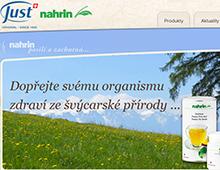 Webová prezentace produktů JUST CS