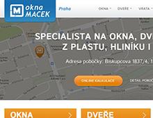 Miniweby poboček Okna Macek