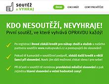 Soutěžní web - microsite